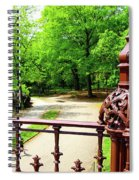 New York's Central Park Winterdale Arch Railing Cast Iron Art Spiral Notebook
