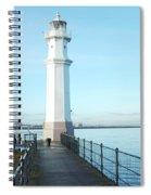 Newhaven Harbour Lighthouse Edinburgh Spiral Notebook
