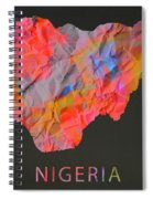 Nigeria Tie Dye Country Map Spiral Notebook