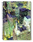 Night, Chicago, Illinois, Usa Spiral Notebook