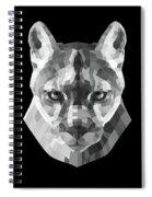 Night Mountain Lion Spiral Notebook