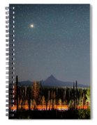 Night On Santiam Pass Spiral Notebook
