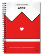 No1027 My Annie Minimal Movie Poster Spiral Notebook