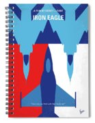 No1028 My Iron Eagle Minimal Movie Poster Spiral Notebook