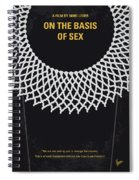 No1040 My On The Basis Of Sex Minimal Movie Poster Spiral Notebook