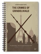 No1042 My The Crimes Of Grindelwald Minimal Movie Poster Spiral Notebook