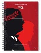 No1043 My Vice Minimal Movie Poster Spiral Notebook