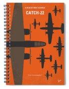 No1047 My Catch 22 Minimal Movie Poster Spiral Notebook