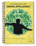 No1049 My Central Intelligence Minimal Movie Poster Spiral Notebook