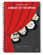 No1053 My A Night At The Opera Minimal Movie Poster Spiral Notebook