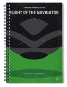 No1067 My Flight Of The Navigator Minimal Movie Poster Spiral Notebook