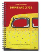 No1072 My Bonnie And Clyde Minimal Movie Poster Spiral Notebook
