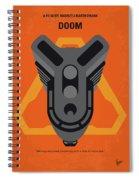No1075 My Doom Minimal Movie Poster Spiral Notebook