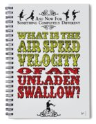No14 My Silly Quote Poster Spiral Notebook