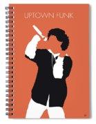 No223 My Bruno Mars Minimal Music Poster Spiral Notebook