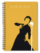 No224 My Edith Piaf Minimal Music Poster Spiral Notebook