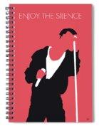 No242 My Depeche Mode Minimal Music Poster Spiral Notebook