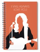 No273 My Dolly Parton Minimal Music Poster Spiral Notebook