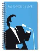 No279 My Julio Iglesias Minimal Music Poster Spiral Notebook