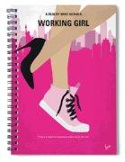 No987 My Working Girl Minimal Movie Poster Spiral Notebook