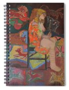 Noa With Animal Mask Spiral Notebook