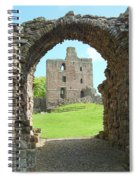 Norham Castle And Entrance Gate Spiral Notebook