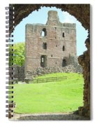 Norham Castle And Tower Through The Entrance Gate Spiral Notebook