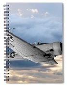 North American T-6 Texan Military Aircraft Spiral Notebook