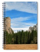 North Dome And Half Dome, Yosemite National Park Spiral Notebook