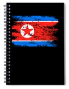 North Korea Shirt Gift Country Flag Patriotic Travel Asia Light Spiral Notebook