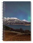 Northern Lights Over Grytoya Spiral Notebook