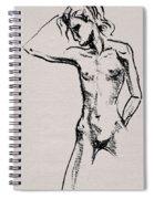 Nude Model Gesture Xxi Spiral Notebook
