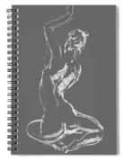Nude Model Gesture Xxviii Spiral Notebook