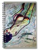 Woman Sleeper Nude Spiral Notebook