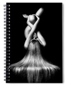 Nude Woman Bodyscape 2 Spiral Notebook