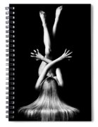 Nude Woman Bodyscape 3 Spiral Notebook