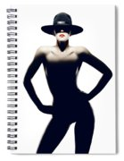 Nude Woman With Hat Spiral Notebook