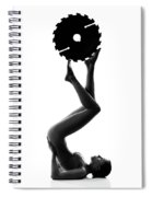 Nude Woman With Saw Blade 2 Spiral Notebook