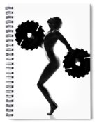 Nude Woman With Saw Blade 4 Spiral Notebook