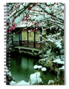 Ny Chinese Scholars Garden, Spring Snow Spiral Notebook
