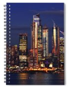 Nyc Sundown Gold And Twilight Skies Spiral Notebook