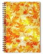 Oak Leaf Pattern Spiral Notebook