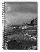 Ocean Splash In Black And White Spiral Notebook