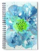 Oceanbreeze Blue-green Windflower Spiral Notebook