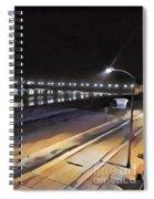 Oceanside Pier At Night  Spiral Notebook