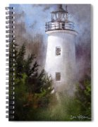 Ocracoke Light Spiral Notebook