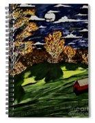 October Moon Shadow Spiral Notebook