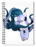 Octopus And Purple Bear Spiral Notebook