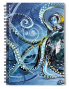 Octopus Of Nine Brains Spiral Notebook