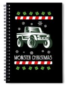 Offroad Monster Truck Christmas Xmas Winter Holidays Spiral Notebook